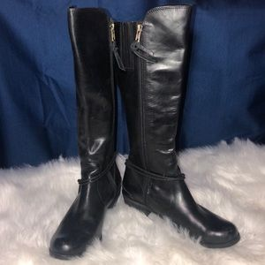 UGG Black leather boots size 7 New